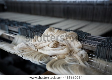 wool material for weaving industry