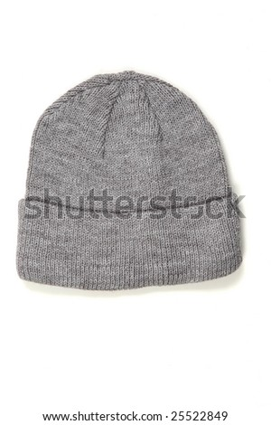 wool polar hat isolated at white background