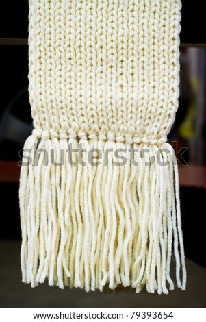 Wool scarf. - stock photo