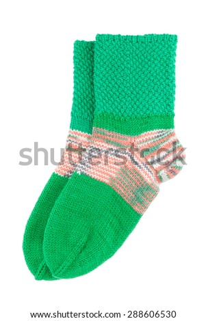 Wool socks isolated on white