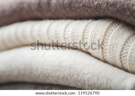 wool sweater winter - stock photo