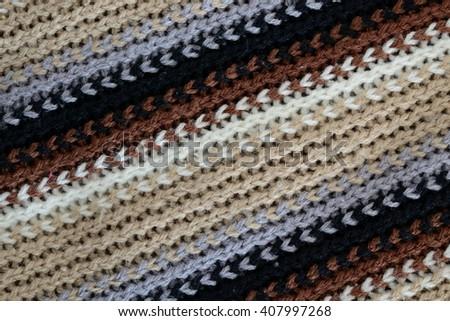 wool texture, diagonal lines - stock photo