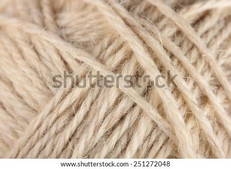 wool yarn clew macro - stock photo