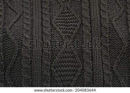 Woolen Sweater Black  Background  - stock photo