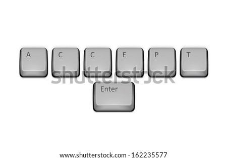 Word Accept on keyboard and enter key.