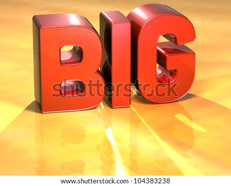 Word Big on yellow background (high resolution 3D image) - stock photo