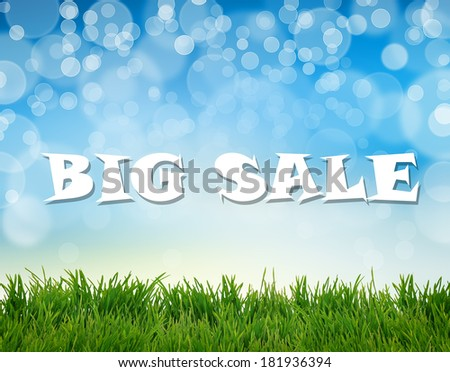 Word Big Sale on abstract natural background - stock photo
