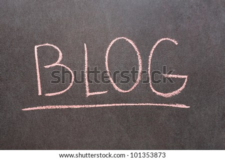 Word Blog drawn on school chalkboard