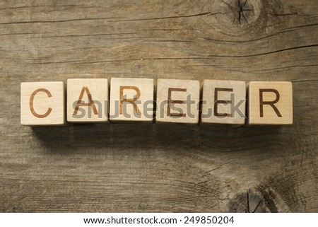 word career on a wooden background - stock photo