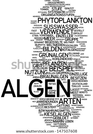 Word cloud - algae
