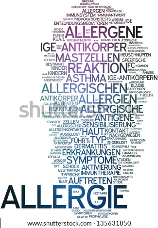Word cloud - allergy