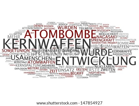 Word cloud - atomic bomb