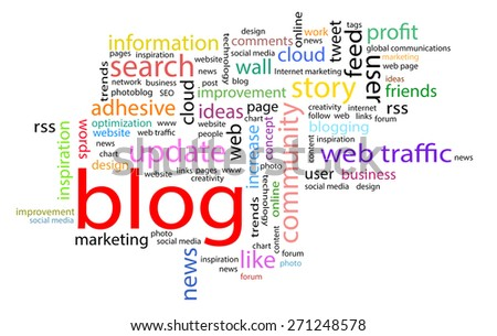 Word cloud. Blog concept - stock photo