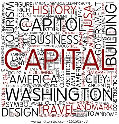 Word cloud - capital