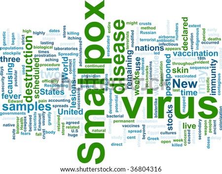 Word cloud concept illustration of  smallpox virus - stock photo