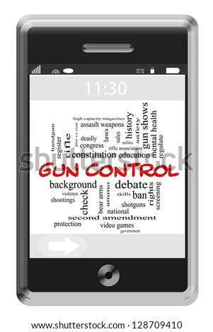 Word Cloud Concept of Touchscreen Phone with great terms such as and more. - stock photo