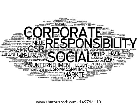Word cloud - corporate social responsibility
