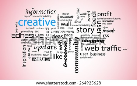Word cloud. Creative concept - stock photo