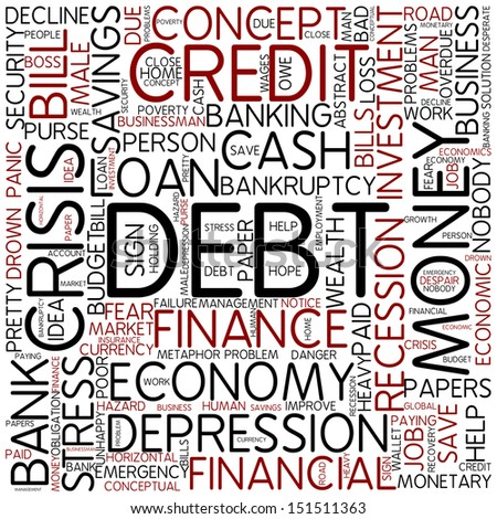 Word cloud - debt