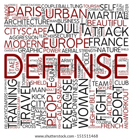Word cloud - defense