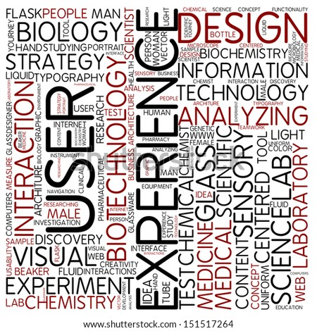 Word cloud - experience - stock photo