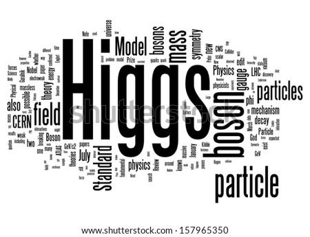 word cloud - Higgs boson - stock photo