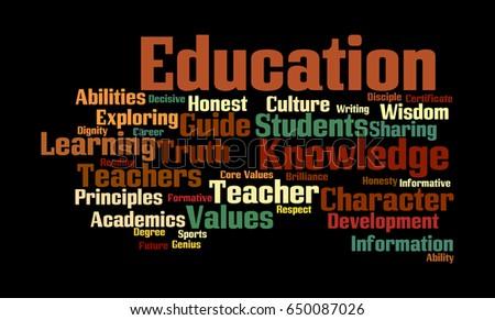word cloud illustrating prime concept education stock illustration