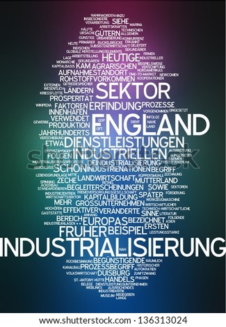 Word cloud -  industrialization