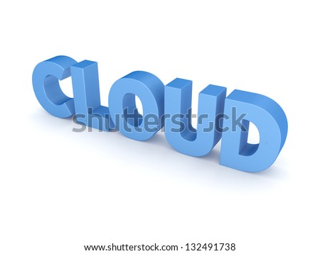 Word CLOUD.Isolated on white background.3d rendered. - stock photo
