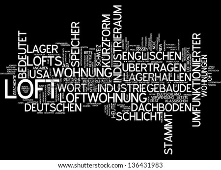 Word cloud -  loft