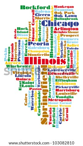 Illinois Map Stock Images RoyaltyFree Images Vectors - Map of the state of illinois