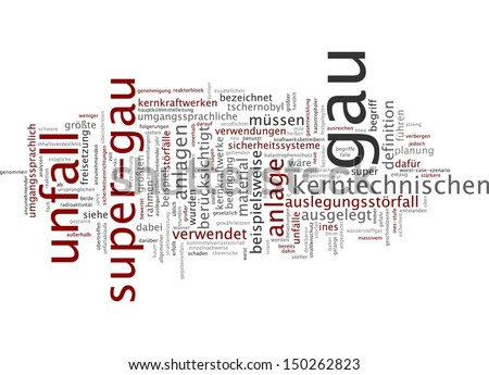 Word cloud - maximum credible accident