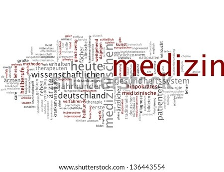 Word cloud -  medicine