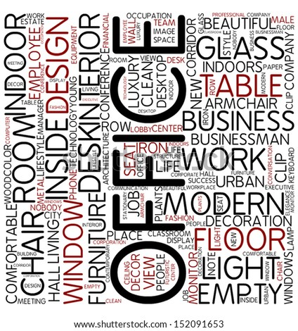 Word cloud - office