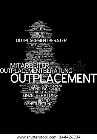 Word cloud -  outplacement