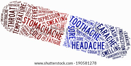 Word cloud popular ailment or sickness related - stock photo