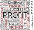 Word cloud - profit - stock