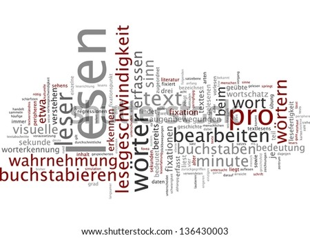 Word cloud -  reading