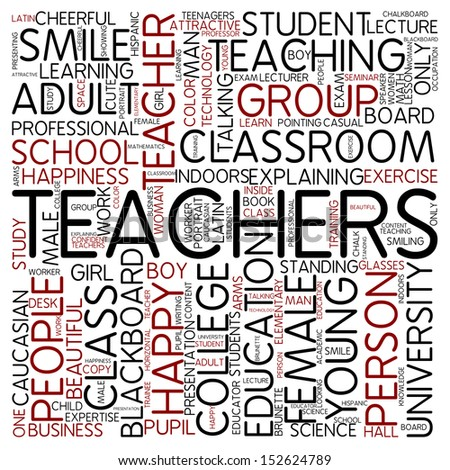 Word Cloud Teachers Stock Illustration 152624789 - Shutterstock