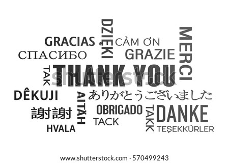 Thank you in different languages stock images royalty free images word cloud thank you in different languages black stopboris Image collections