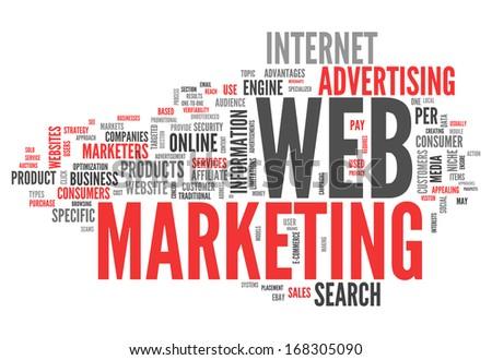 Word Cloud Web Marketing - stock photo