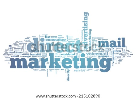 Word Cloud with Direct Marketing related tags