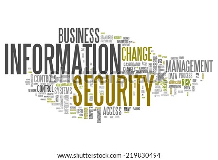 Word Cloud with Information Security related tags - stock photo