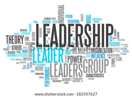 Word Cloud with Leadership related tags