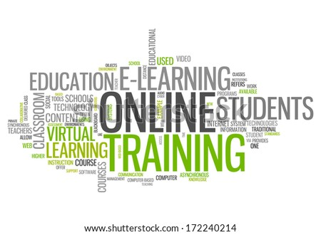 Word Cloud with Online Training related tags