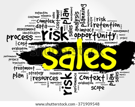 Word Cloud with Sales related tags, business concept - stock photo