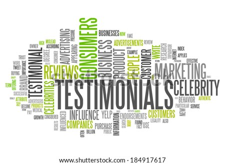 Word Cloud with Testimonials related tags