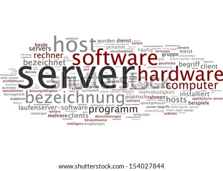 Word cloud -  Word cloud - server - stock photo