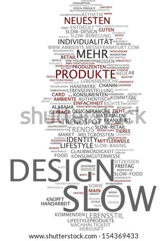 Word cloud -  Word cloud - slow design