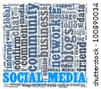 Word collage on Social Media - stock photo